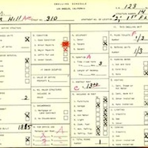 WPA household census for 310 S BUNKER HILL, Los Angeles