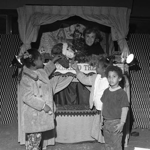Children at Puppet Show, Los Angeles, 1972