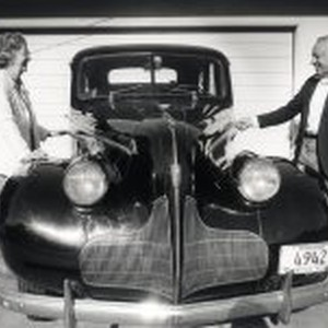 Betty and Harrold Karkos and their 1939 Buick