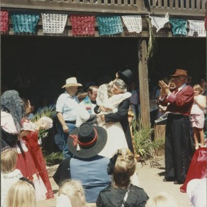 Spanish wedding at the Petaluma Adobe, Petaluma, California, August 11, 1991