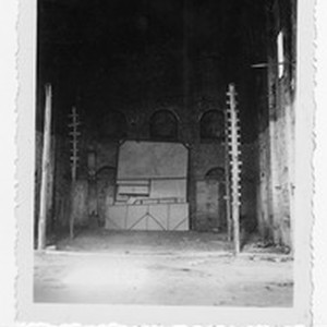 Interior of the old uncompleted church in Carrillo Puerto, Quintana Roo, Mexico, ...