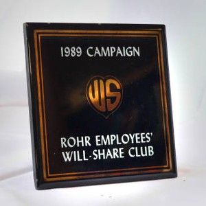 Rohr employee's Will Share Club tile