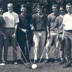 Golf team in the 1970s at Chapman College, Orange, California