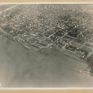 Fort Mason and San Francisco from the sky. 1920