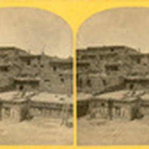 "Indian Pueblo of Zuni, New Mexico; view from the interior. The ""Pueblo"" ..."