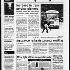 Daily Trojan, Vol. 124, No. 2, January 13, 1995