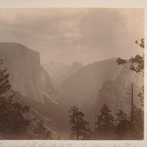 First view of Yo Semite [i.e. Yosemite] Valley from Inspiration Point (Mariposa ...