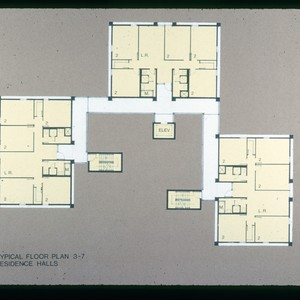 Architectural plans, residence halls