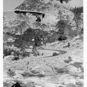 Donner Memorial Bridge and State Highway - Donner Pass, Calif