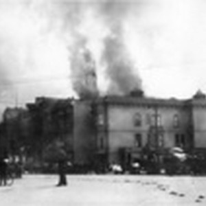 [Burning of St. Ignatius Church and College at Hayes St. and Van ...
