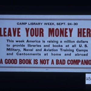 Camp Library Week, Sept. 24-30. Leave your money here. This week America ...