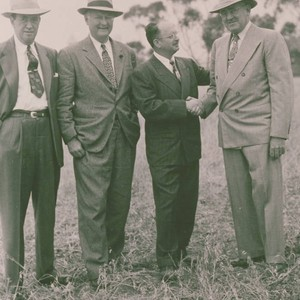 Congressman Leland Ford Sr., among others, attends the groundbreaking ceremonies for the ...