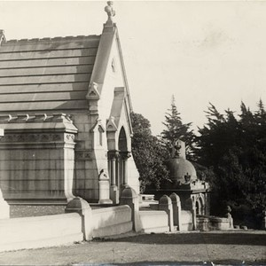 [Mausoleums at Laurel Hill Cemetery]