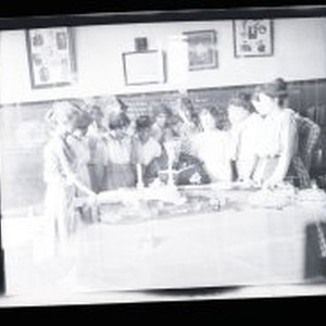 Henry Meade Bland with students in classroom