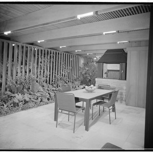 Pace Setter House of 1955. Outdoor living space