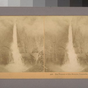 The Torrent of his Mercies, Yosemite, Cal.--Photographer: B. W. Kilburn--Photographer's number: 9288--Place ...