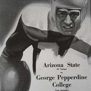 Football game program for Arizona State vs. George Pepperdine College, 1946