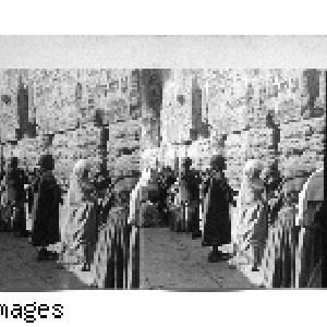 The Jews Wailing Place at Outer Wall of Temple, Jerusalem, Palestine