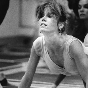Jane Fonda leads exercise class