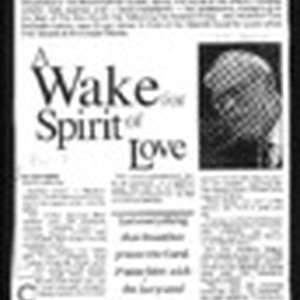 A wake for Spirit of Love