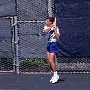 Tennis player Chris Tontz, playing tennis. Images for View book?
