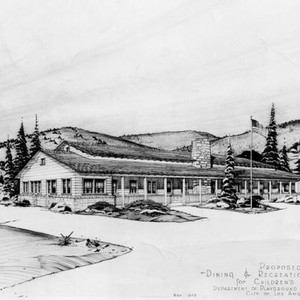 Proposed dining & recreation building, a drawing