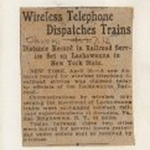 Wireless Telephone Dispatches Trains