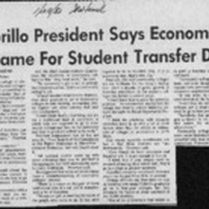 Cabrillo president says economics to blame for student transfer drop