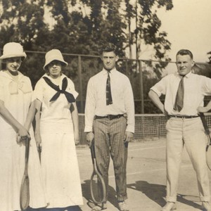 Group on the tennis court at the Mount. Tamalpais Military Academy Tennis ...