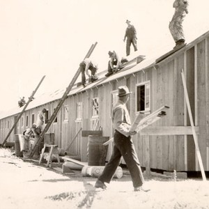 [New barracks being built at Fort Funston]