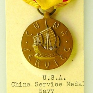 US China Service medal Navy