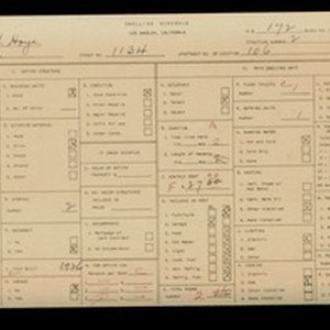 WPA household census for 1134 W 17TH, Los Angeles