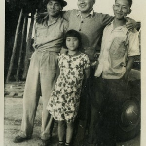 [Photograph of the Okine family]