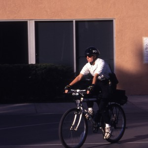 UCI police officers on bikes.