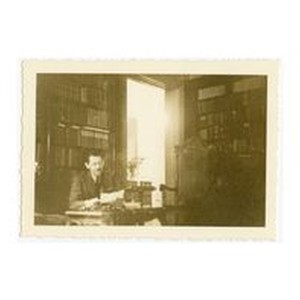 Henry Isidore Dockweiler in the study, 1937