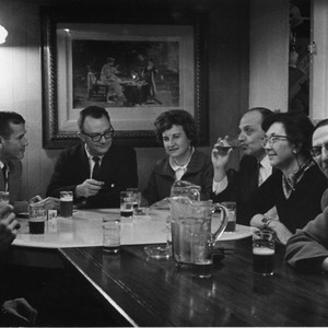 Eric Berne and other Transactional Analysis practitioners at a bar during the ...