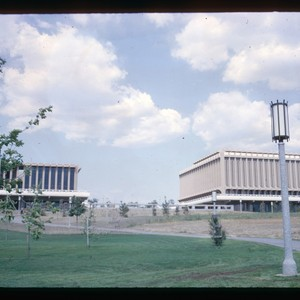 Commons, Library-Administration, view from Aldrich Park
