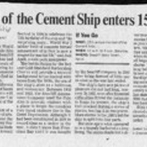 Festival of the Cement Ship enters 15th year