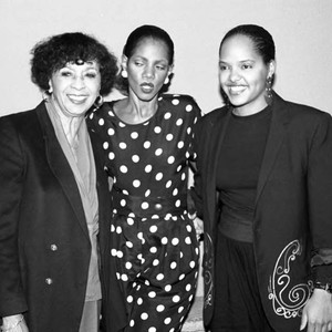 Gertrude Gibson, Melba Moore and an unidentified woman, Los Angeles, 1989