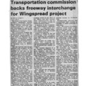 Transportation commission backs freeway interchange for Wingspread project