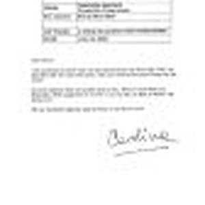 Correspondence from Carolina Biquard to Peter Drucker, 2001-07-23