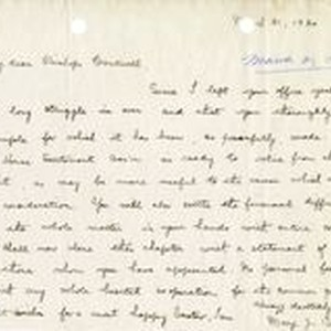 Mary J. Workman letter to Fr. John J. Cantwell, Mar 31, 1920