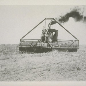[Field machinery in operation.]