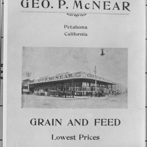 Advertisement for Geo. P. McNear Grain and Feed