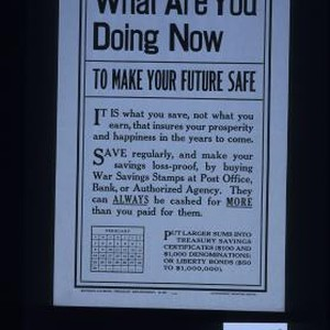 What are you doing now to make your future safe? ... Save ...