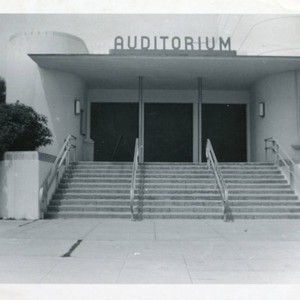 Auditorium building at George Pepperdine College