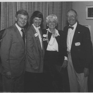"Dr. and Mrs. William ""Del"" Stelck and Dr. and Mrs. Ralph Prator, ..."