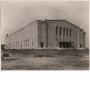 East and South elevations of newly completed Oakland Municipal Auditorium, circa 1914