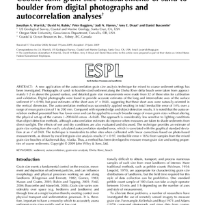 Cobble cam: grain-size measurements of sand to boulder from digital photographs and ...