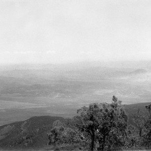 "South of San Vicente, from ""red-face"" on mountain on west side of ..."